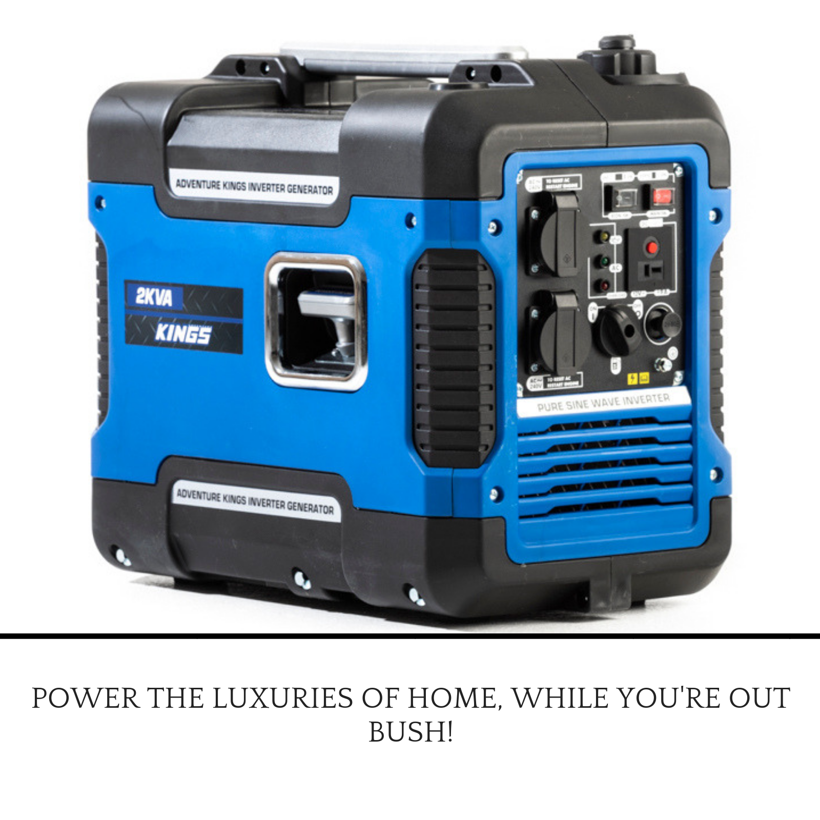 2Kva Kings Generator details about adventure kings 2kva generator closed case | 79cc 4-stroke |  2000w power compact
