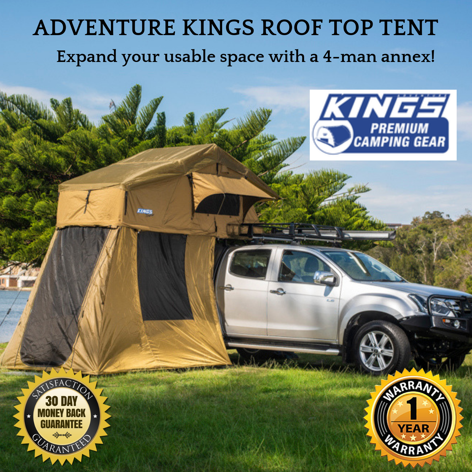 Adventure Kings Roof Top Tent details about best 4 person adventure kings brand annex extension for  rooftop camper car tent