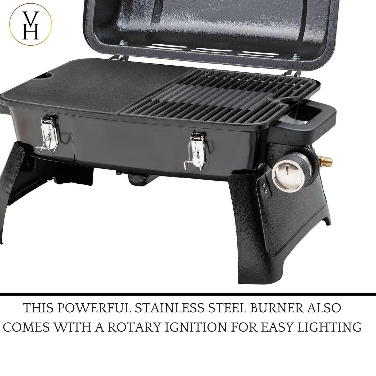 Gasmate Voyager Portable Gas Bbq Review details about portable gas bbq grill lpg stove outdoor camping stainless  steel thermometer new