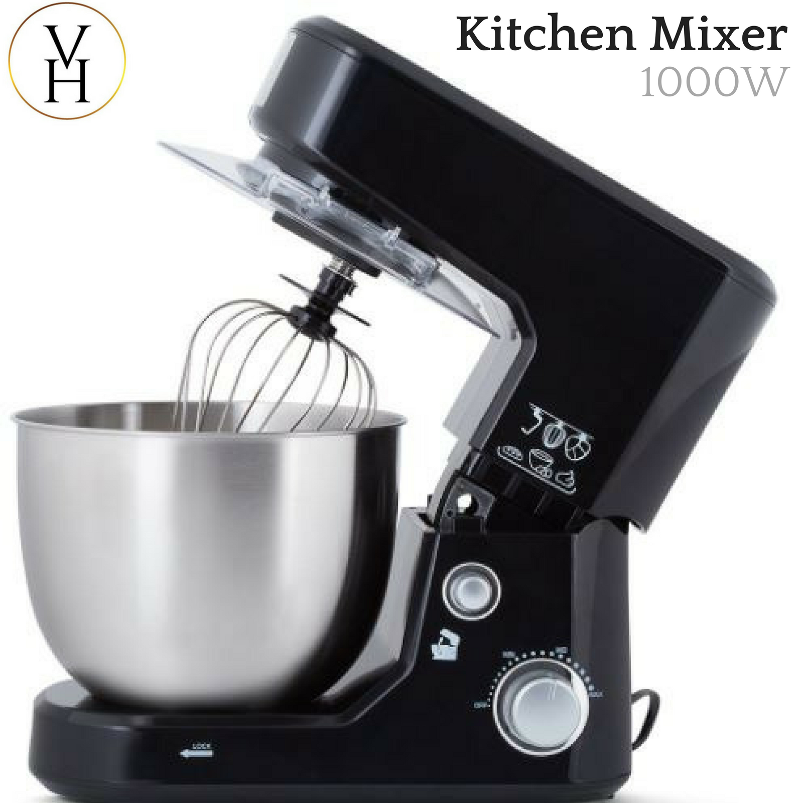 Kitchen Bench Mixers: Healthy Choice 1000W Electric Bench Top Stand Mixer Beater